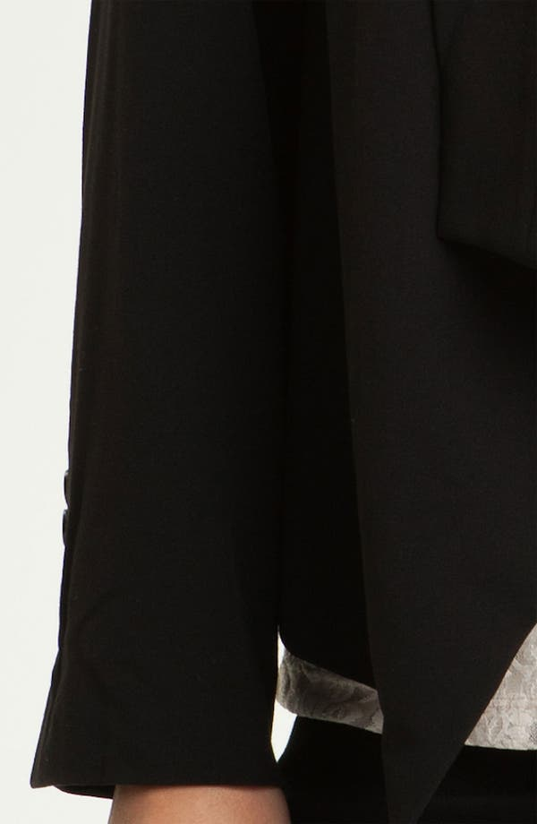 Alternate Image 3  - Eliza J Open Front Jacket (Plus)