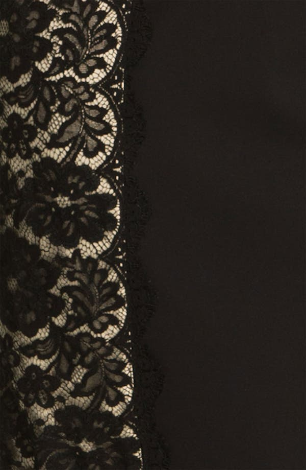 Alternate Image 3  - Aidan Mattox Lace Panel Woven Sheath Dress