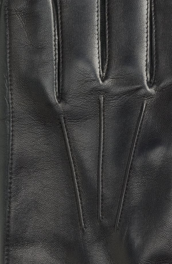 Alternate Image 2  - John W. Nordstrom® Cashmere Lined Leather Gloves