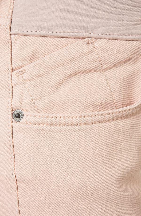 Alternate Image 4  - Topshop 'Baxter' Colored Skinny Maternity Jeans (Mink)