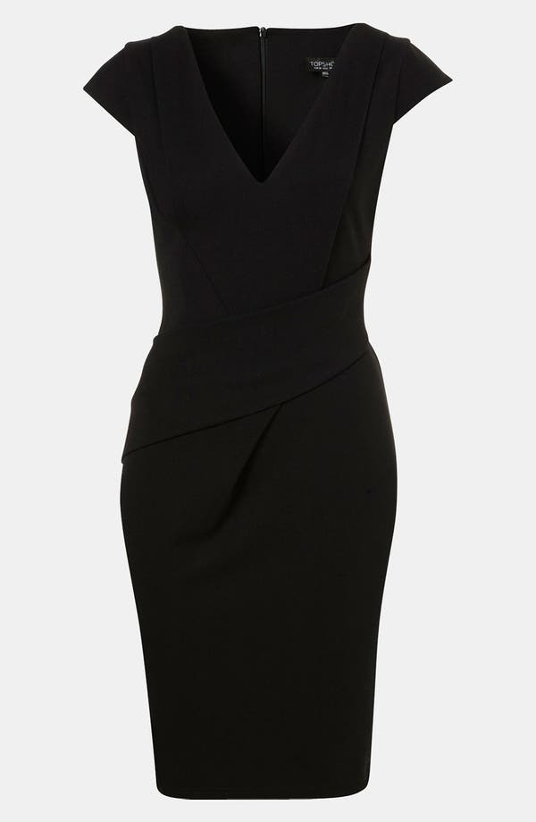 Main Image - Topshop Wrap Detail Pencil Dress