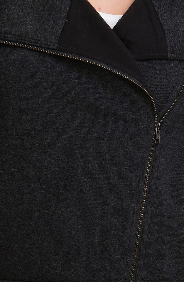 Alternate Image 3  - Eileen Fisher Wool Blend Moto Jacket (Plus)