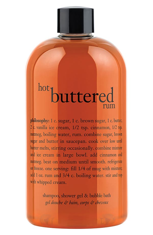 Alternate Image 1 Selected - philosophy 'hot buttered rum' shampoo, shower gel & bubble bath