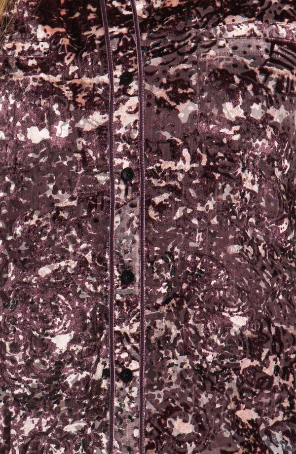 Alternate Image 3  - Hinge® Spatter Burnout Velvet Shirt