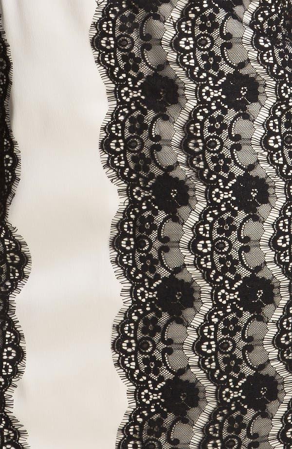 Alternate Image 3  - Max & Cleo 'Olivia' Strapless Satin & Lace Dress