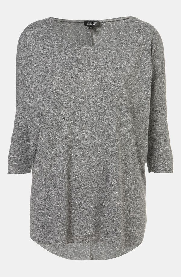 Main Image - Topshop Burnout Drop Shoulder Top