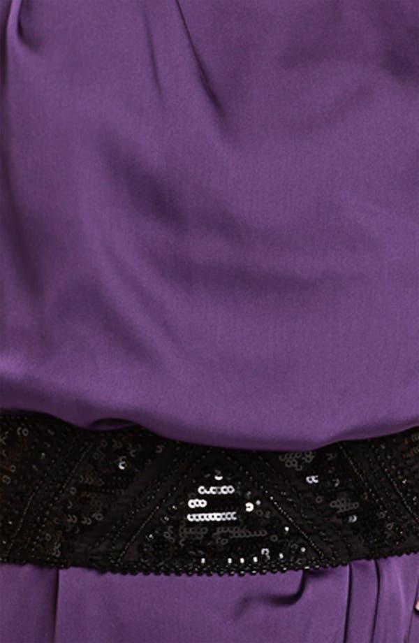 Alternate Image 3  - Vince Camuto Sequin Belted Charmeuse Dress