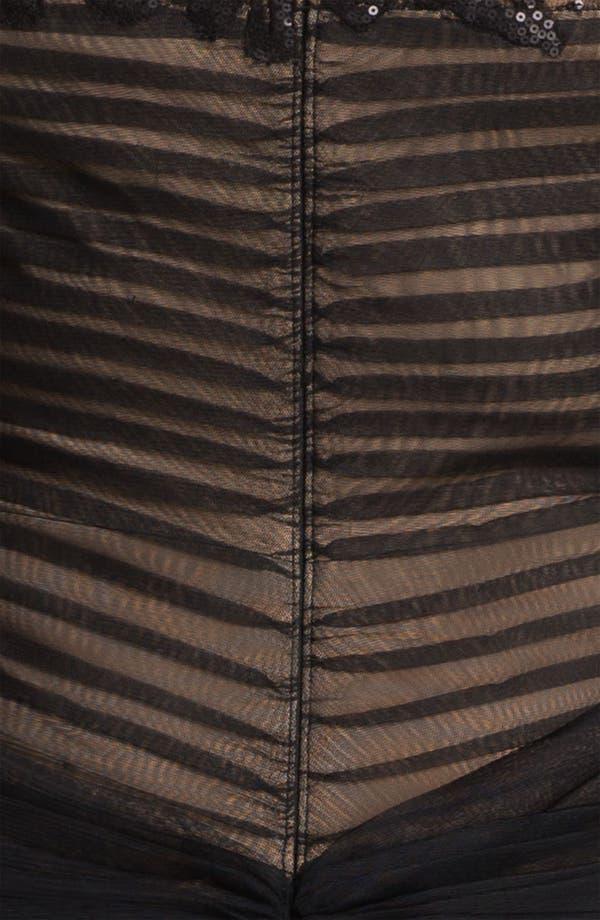 Alternate Image 3  - Tadashi Shoji Chiffon & Lace Gown (Plus Size)