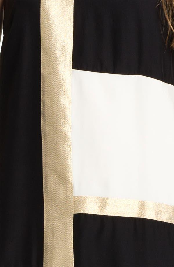 Alternate Image 3  - ALICE & TRIXIE 'Mae' Metallic Colorblock Silk Shift Dress