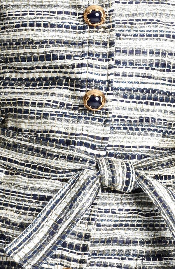 Alternate Image 3  - Oscar de la Renta Belted Metallic Tweed Jacket