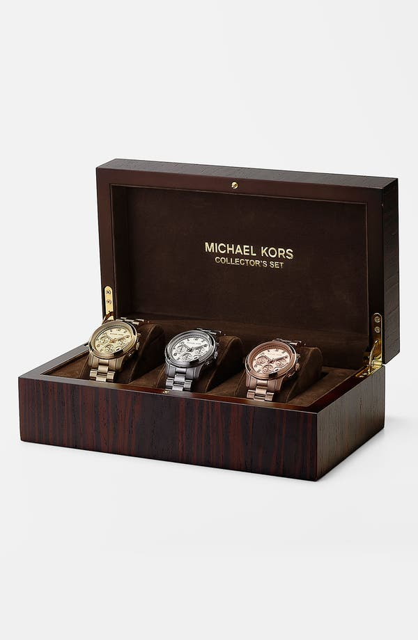 Alternate Image 1 Selected - Michael Kors 'Runway' Boxed Watch Set