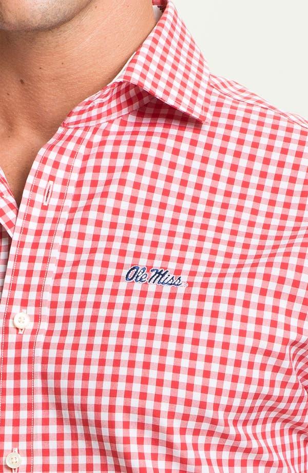 Alternate Image 3  - Thomas Dean 'University of Mississippi' Gingham Sport Shirt