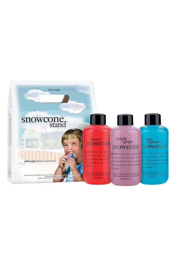 Alternate Image 1 Selected - philosophy 'snowcone stand' shampoo, shower gel & bubble bath set ($25 Value)