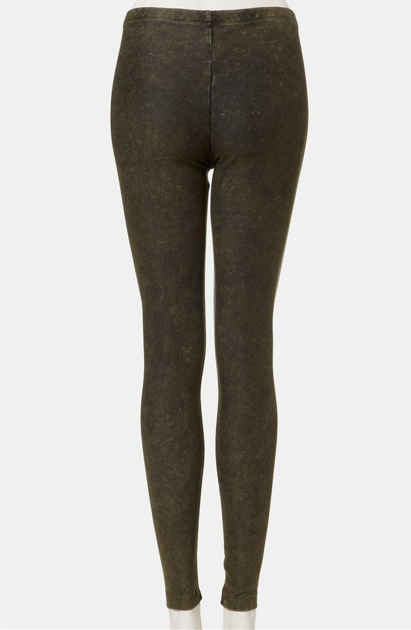 Alternate Image 2  - Topshop Acid Wash Denim Leggings