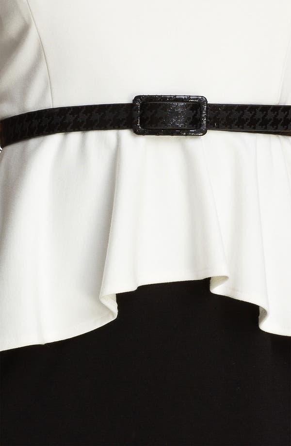 Alternate Image 3  - Donna Morgan Colorblock Peplum Dress