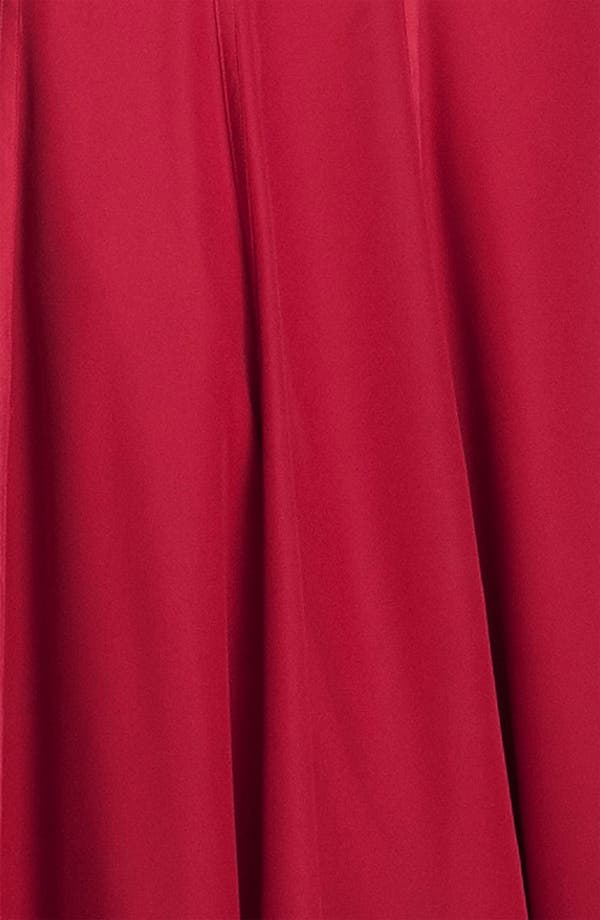 Alternate Image 3  - ML Monique Lhuillier Bridesmaids Satin Trim Surplice Gown (Nordstrom Exclusive)