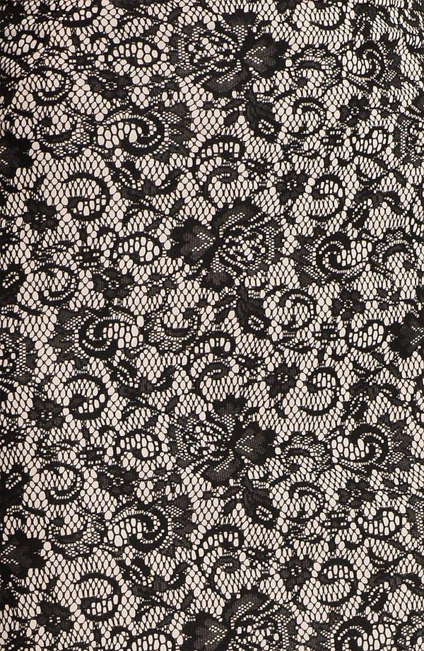 Alternate Image 3  - Kay Unger Back Godet Lace Jacquard Pencil Skirt