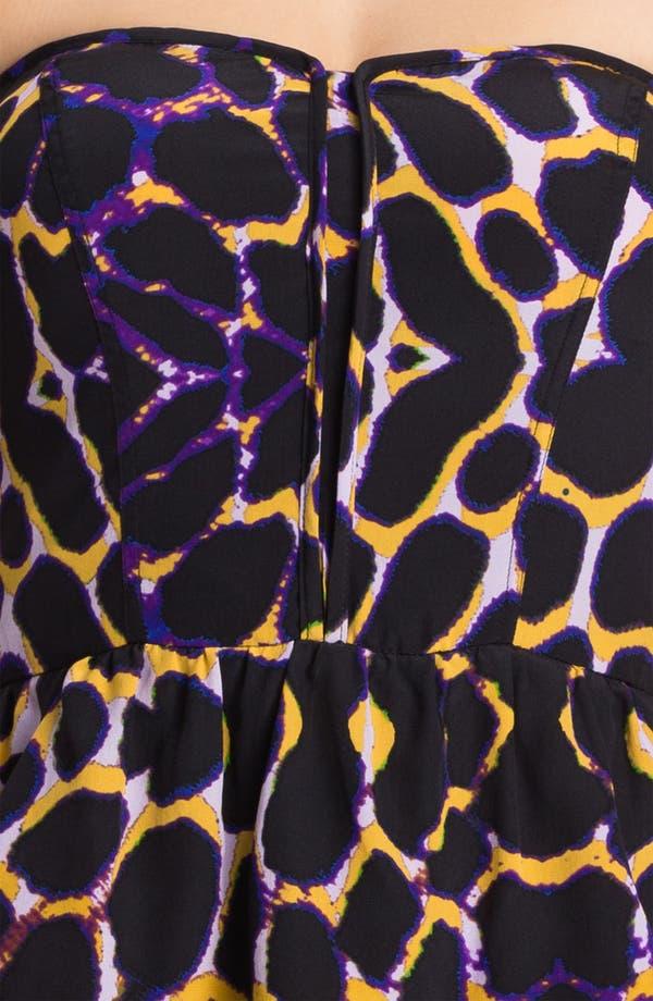 Alternate Image 3  - Presley Skye Animal Print Strapless Dress