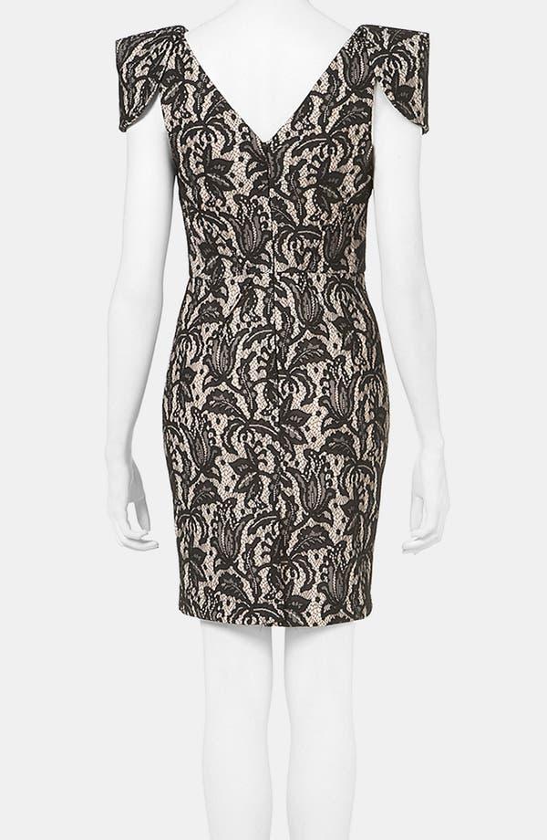 Alternate Image 2  - Topshop Lace Pencil Dress