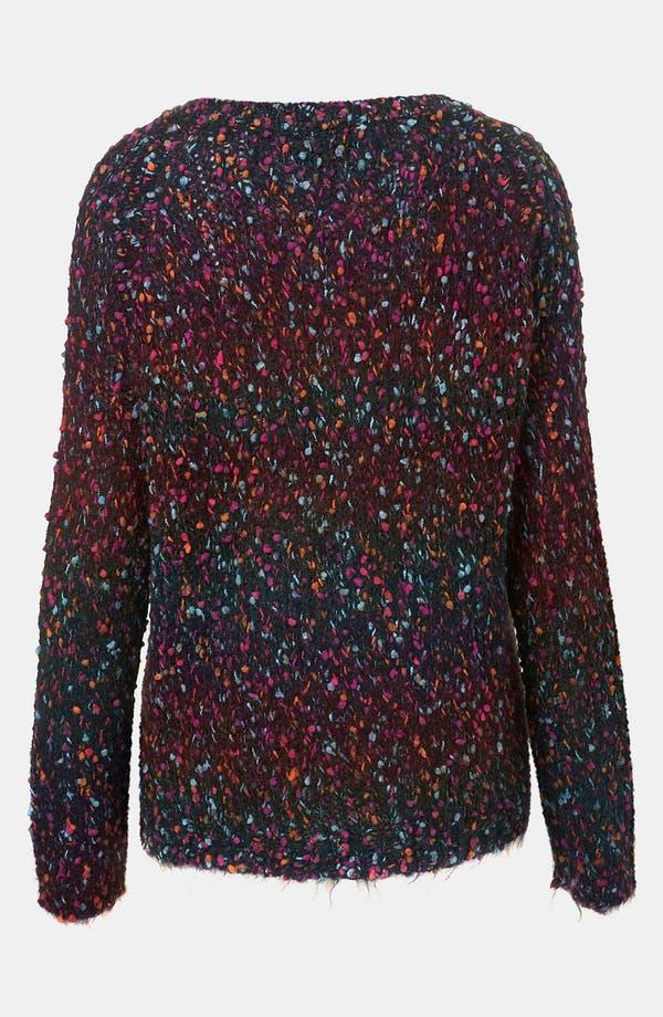 Alternate Image 2  - Topshop Rainbow Bouclé Sweater