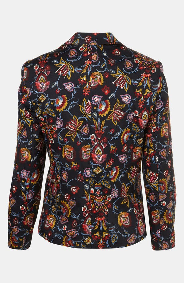 Alternate Image 2  - Topshop Tapestry Print Open Front Blazer (Petite)