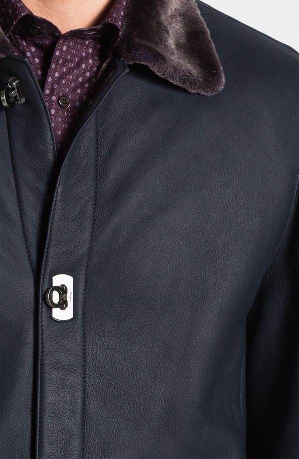 Alternate Image 3  - Salvatore Ferragamo Genuine Shearling Coat with Gancini Closure