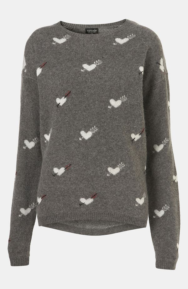 Main Image - Topshop 'Hearts & Arrows' Sweater