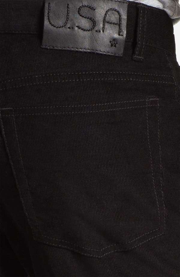 Alternate Image 3  - John Varvatos Star USA 'Bowery' Slim Straight Leg Corduroy Pants