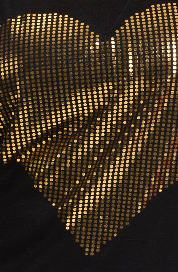 Alternate Image 3  - Madison & Berkeley Gold Heart Tee (Plus)