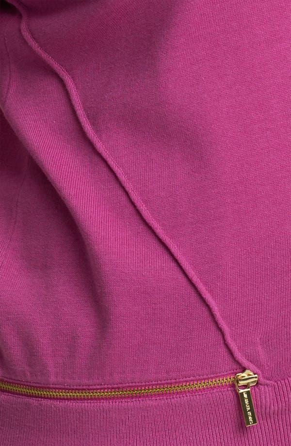 Alternate Image 3  - MICHAEL Michael Kors Zip Detail Sweater (Plus)