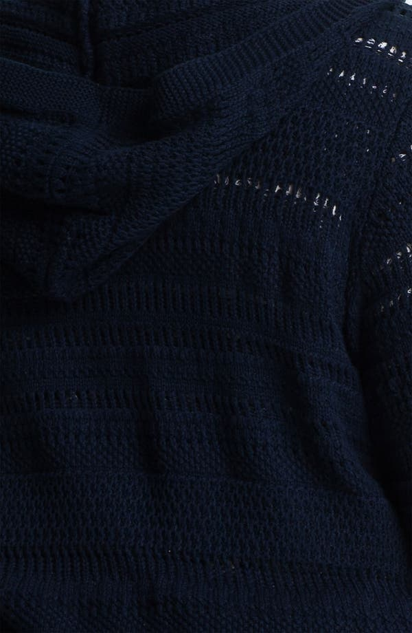 Alternate Image 3  - Lucky Brand Long Hooded Cardigan (Plus)
