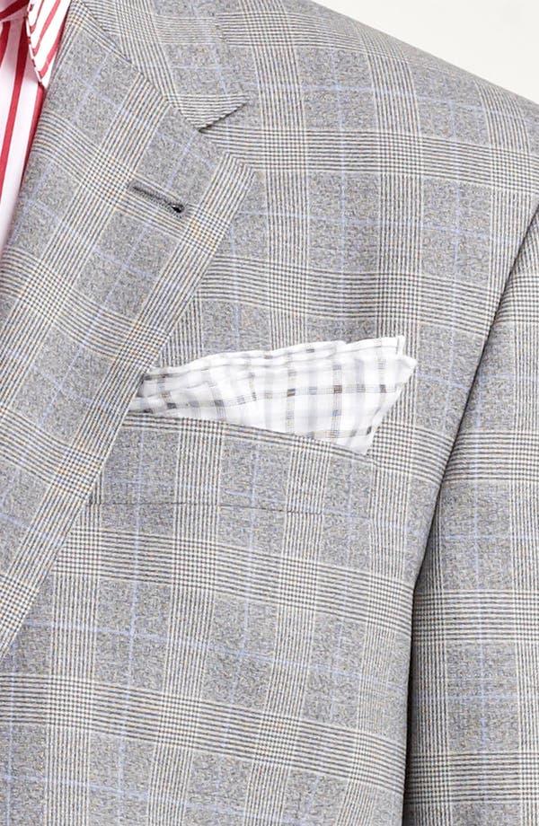Alternate Image 6  - Paul Smith London Slim Fit Glen Plaid Wool Suit