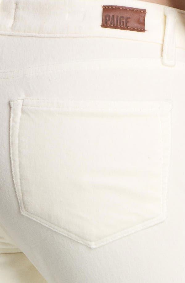 Alternate Image 3  - Paige Denim 'Verdugo' Stretch Velvet Skinny Pants (Cream)