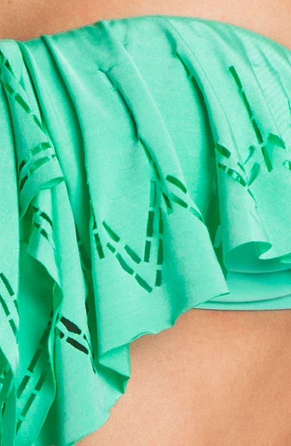 Alternate Image 3  - L Space Laser Cut Ruffle Bikini Top