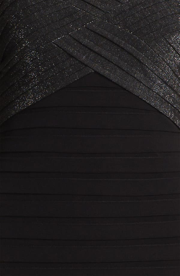 Alternate Image 3  - Adrianna Papell Metallic Pleated Sheath Dress