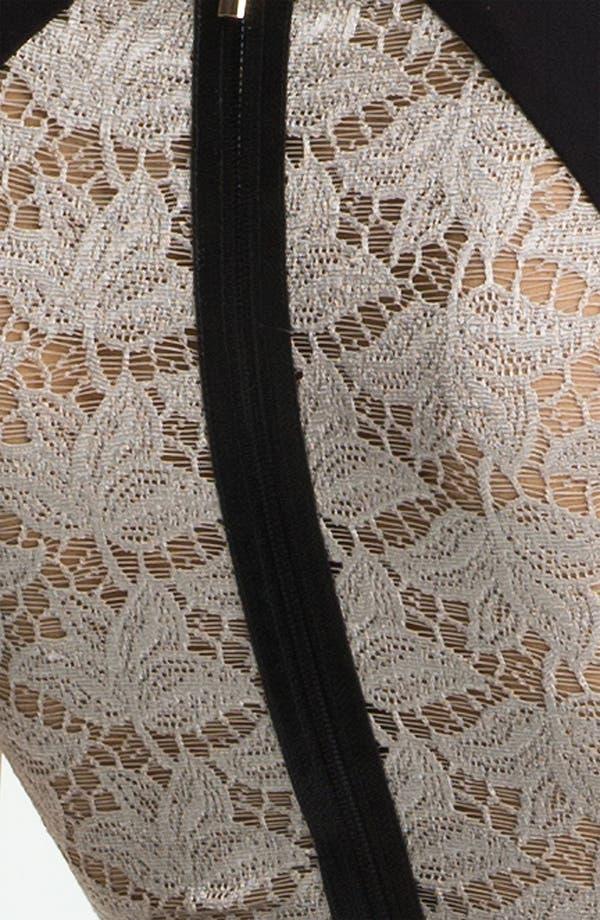 Alternate Image 3  - Black Halo 'Jagger' Lace Detail Colorblock Sheath Dress