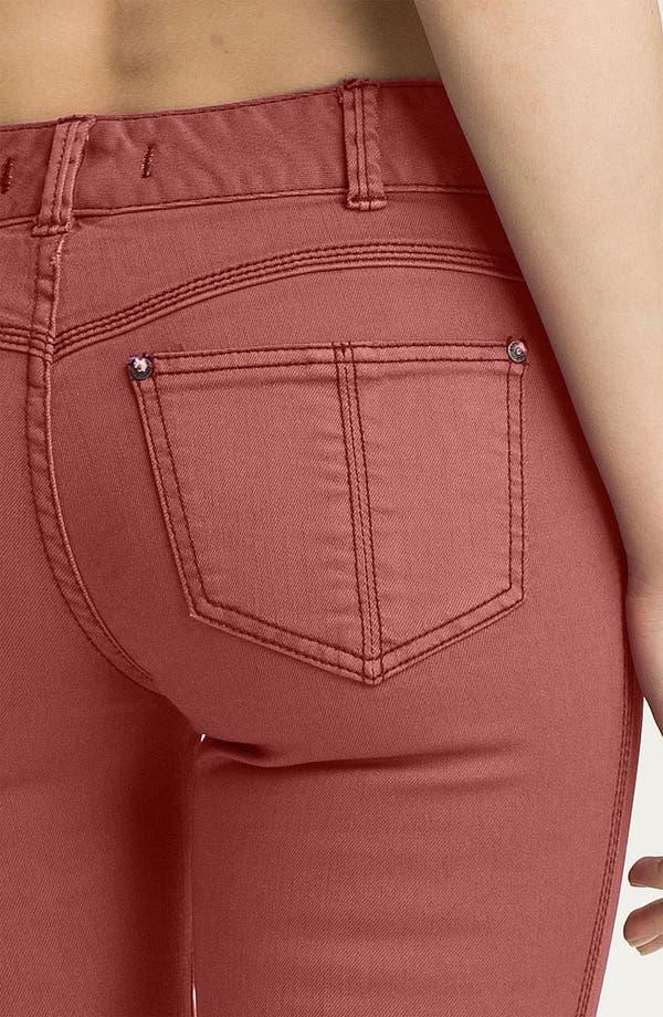 Alternate Image 3  - Free People Colored Stretch Denim Skinny Jeans (Maroon)