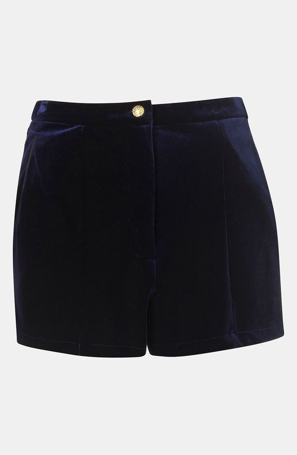 Alternate Image 1 Selected - Topshop Velvet Shorts