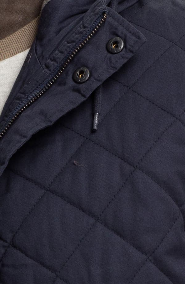 Alternate Image 3  - Topman Quilted Hooded Bomber Jacket