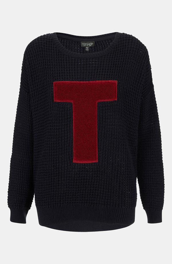 Alternate Image 1 Selected - Topshop Varsity Letter Sweater