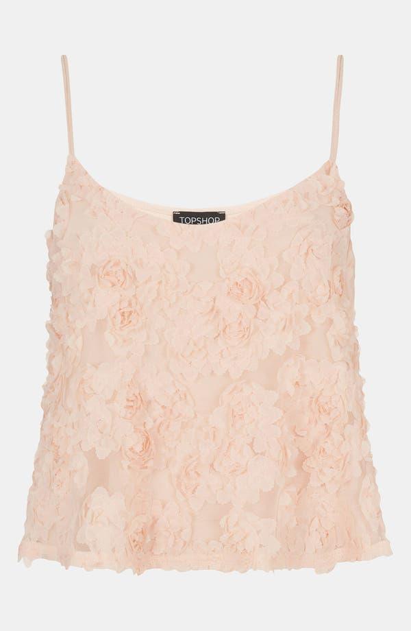 Alternate Image 1 Selected - Topshop Floral Appliqué Swing Camisole