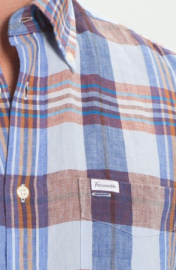 Alternate Image 3  - Façonnable Club Fit Linen Sport Shirt
