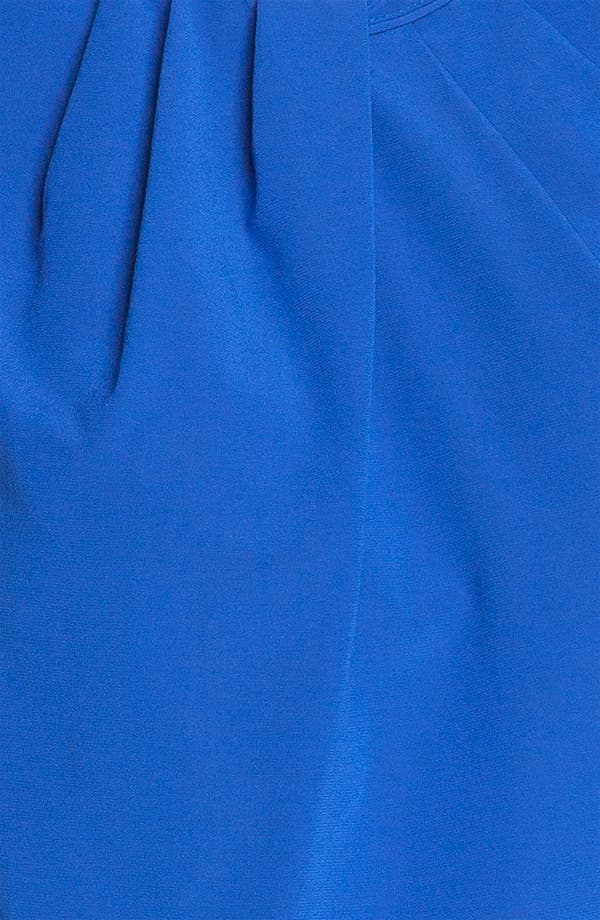 Alternate Image 3  - St. John Collection Pleated Neck Silk Top