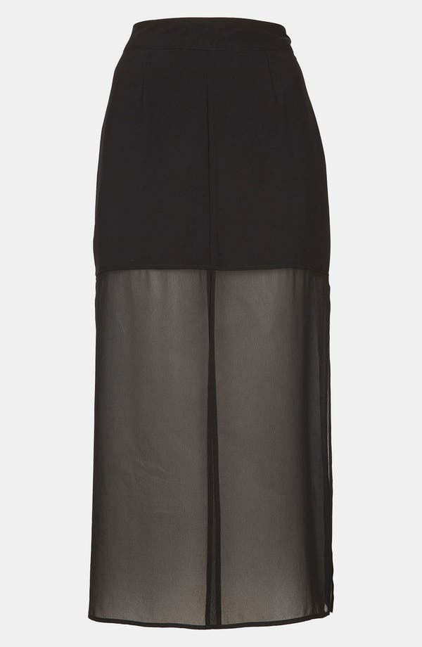 Main Image - Topshop Half Sheer Skirt