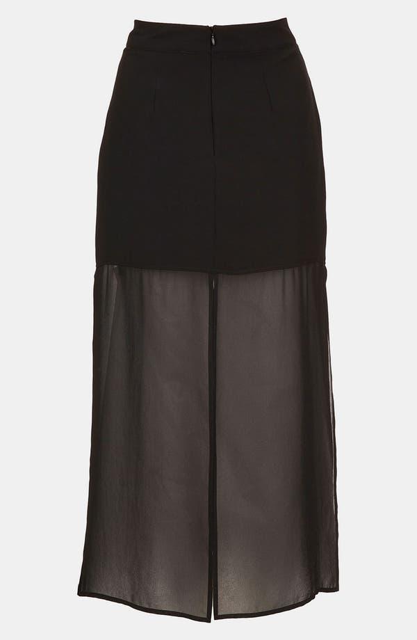 Alternate Image 2  - Topshop Half Sheer Skirt