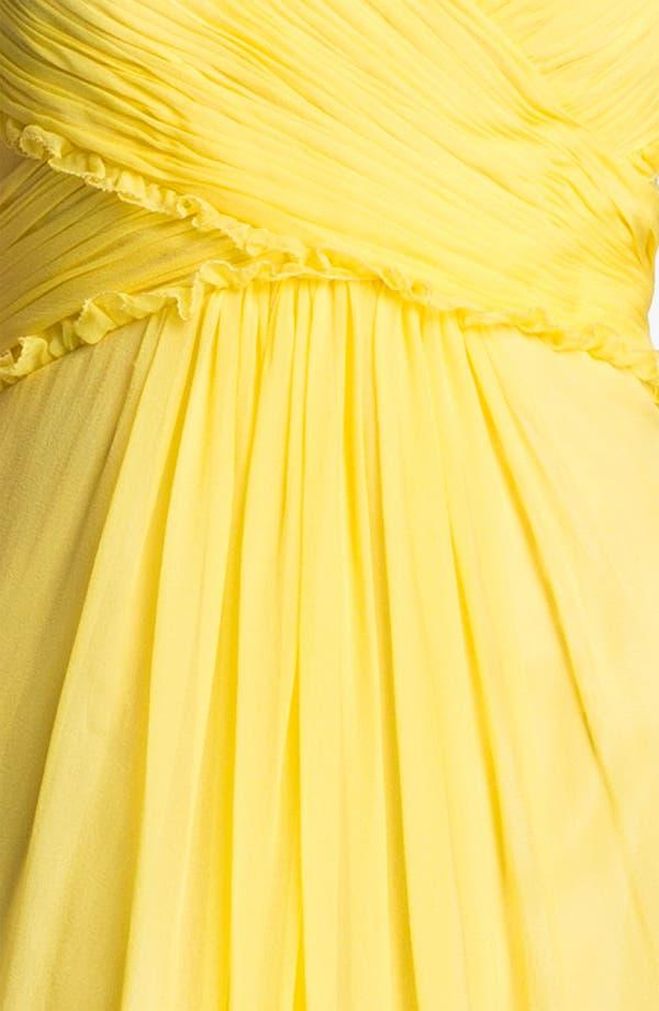 Alternate Image 3  - JS Boutique Ruffled Silk Chiffon Halter Gown