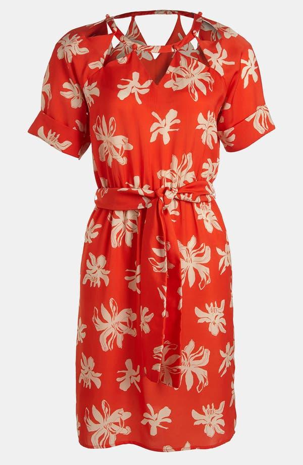 Main Image - Viva Vena! Cutout Neckline Print Dress