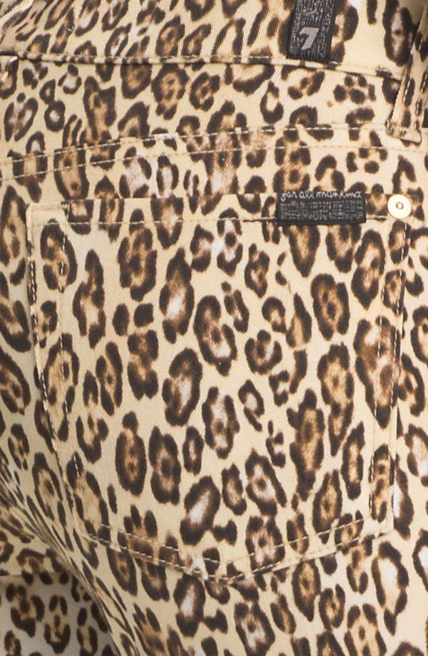 Alternate Image 3  - 7 For All Mankind® 'The Slim Cigarette' Stretch Jeans (Cheetah Print)