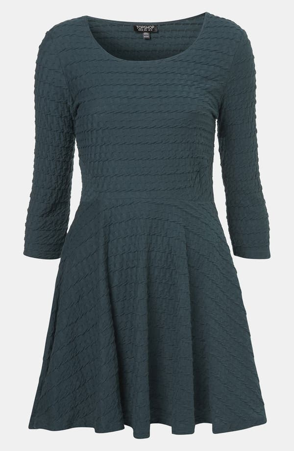 Main Image - Topshop Textured Skater Dress