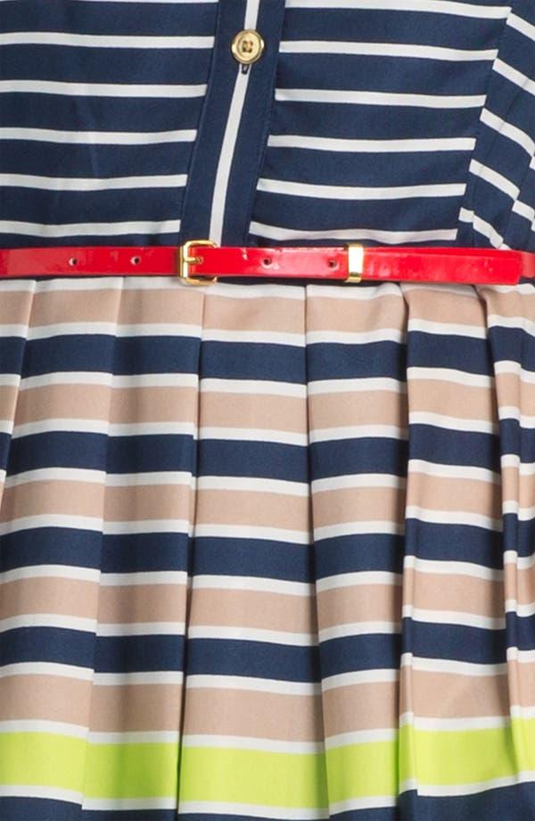 Alternate Image 3  - Ellen Tracy Stripe Twill Shirtdress